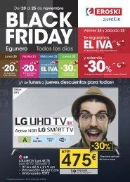 EROSKI Black Friday folleto ofertas hasta 25 Noviembre 2017 euskera-castellano