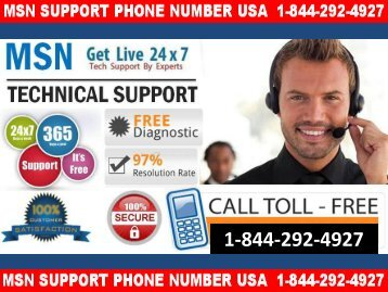 Get solutions of your MSN Account Dial +1-844-292-4927