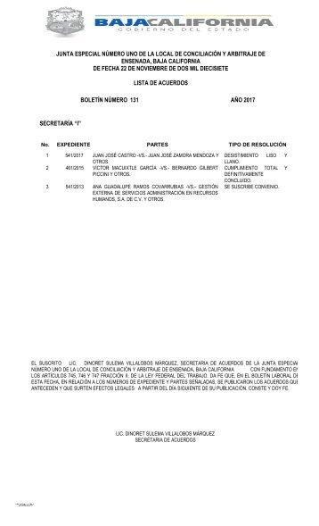 Boletin No. 131
