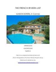 Maison Esterel - Cannes