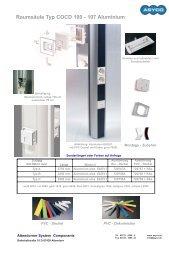Raumsäule Typ COCD 100 - 107 Aluminium