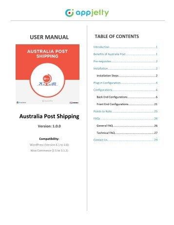 WooCommerce Australia Post Shipping