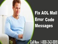 18002430019 |How To Fix AOL Mail Error Code Messages?