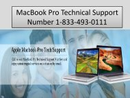 1-833-493-0111 MacBook Pro Technical Support Number