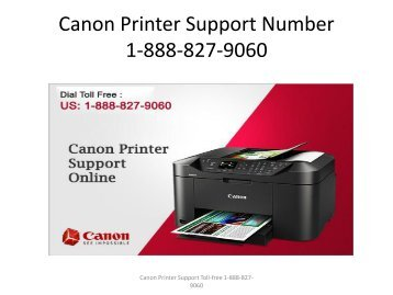Canon printer Support Number 1-888-827-9060
