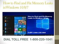 1800-229-9186 How to Find and Fix Memory Leaks in Windows 10