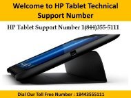 1(844)355-5111 HP Tablet Technical Support Phone Number