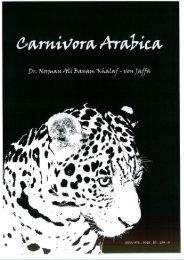 Book: Carnivora Arabica. By: Dr. Norman Ali Bassam Khalaf-von Jaffa. 2008