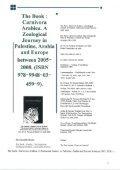 Book: Carnivora Arabica. By: Dr. Norman Ali Bassam Khalaf-von Jaffa. 2008 - Page 6