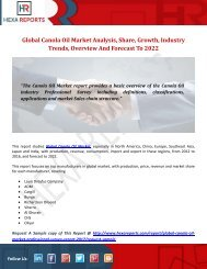 Canola Oil Market | Share, Size, Trends, Growth and Analysis