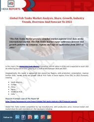 Fish Tanks Market | Share, Size, Trends, Growth and Analysis