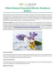 5 Best Natural Essential Oils for Newborn Babies