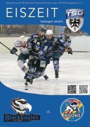 Eiszeit Stadionzeitung TSG Black Eagles vs Bisons Pforzheim 26112017