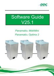 V25.1 Software Guide Panamatic Mini, Midi, Optima 2 v1.5