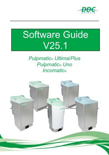 V25.1 Software Guide Pulpmatic Ultima  Eco Uno Incomatic V1.6