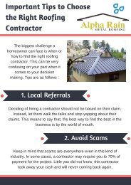 Find out How to Choose the Right Roofing Contractor