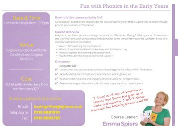 Fun with phonics in the Early Years New date