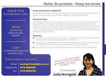 Maths No Problem - Using text books New date