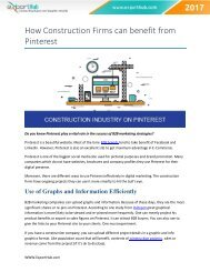 How Construction Firms can benefit from Pinterest