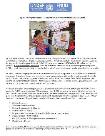 Appel Candidatures Financement FNUD 2017 (1)