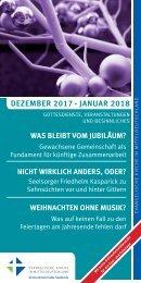 Veranstaltungsprogramm des Evangelischen Kirchenkreises Halle-Saalkreis für Dezember 2017 und Januar 2018