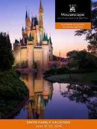 Mousescape Sample Vacation Itinerary