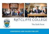 Ratcliffe College - Sixth Form Handbook
