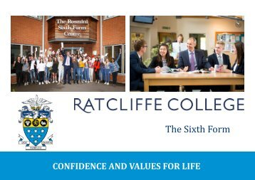 Ratcliffe College - Sixth Form Handbook