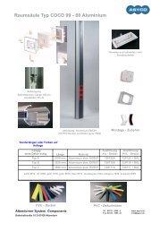 Raumsäule Typ COCD 99 - 60 Aluminium
