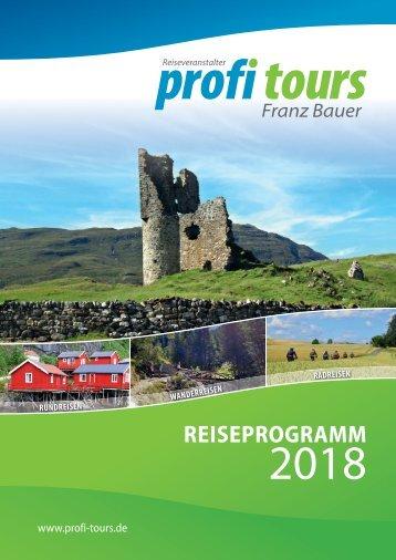 profi tours Reiseprogramm 2018