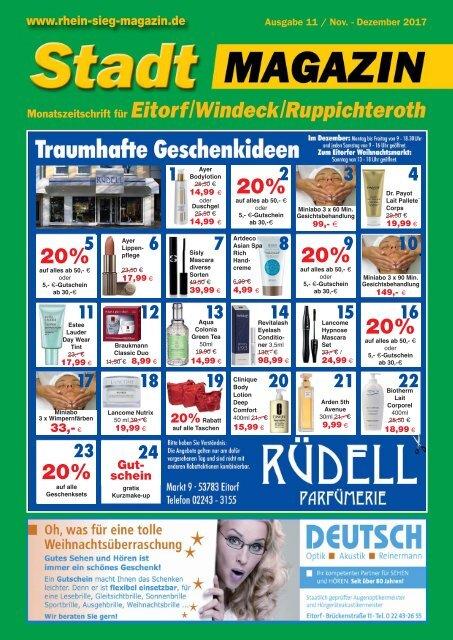 Stadtmagazin Eitorf, Windeck, Ruppichteroth, Ausgabe 11 / Dezember 2017
