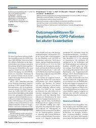 09 Outcomeprädiktoren für hospitalisierte COPD-Patienten bei akuter Exazerbation