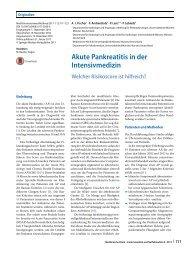 10 Akute Pankreatitis in der Intensivmedizin