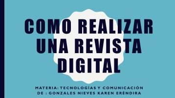 Como realizar una revista digital