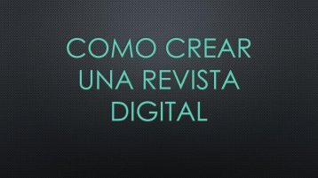 Como crear una revista digital