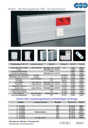 Kabel - Brüstungskanal 160 - 54 Aluminium