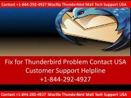 Dial +1-844-292-4927 Mozilla Thunderbird Mail Tech Support USA