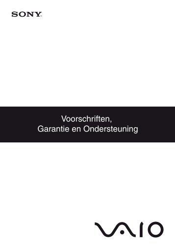 Sony VPCF13B4E - VPCF13B4E Documents de garantie Néerlandais