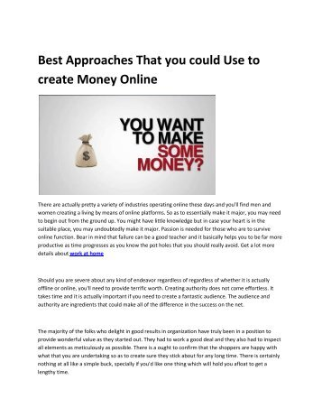 6 make money online