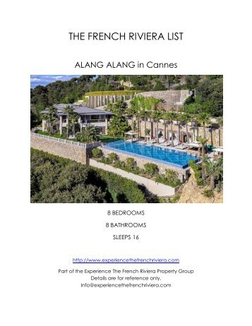 Alang Alang in Cannes