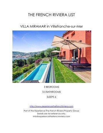 Villa Miramar - Villefranche-sur-Mer