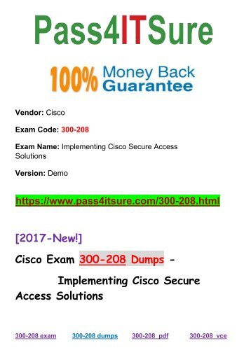 New Pass4itsure 300-208 Dumps Actual Test