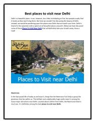 Places to Visit near Delhi - TheRurBanVillage