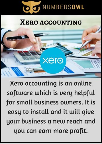 Xero for Accounting - Know the Benefits here