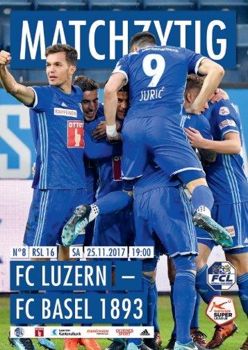 FC LUZERN MATCHZYTIG N°8 1718 (RSL 16)