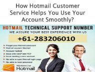 How Hotmail Customer Service Helps You Use Your(1)