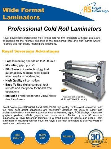 Royal Sovereigns Roll Laminators Machine – PrintFinish.com