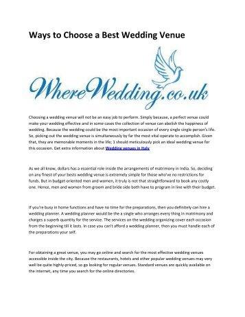 5 wedding venues in Malta