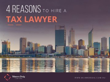 Why You Should Hire a Tax Lawyer in Perth