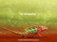 Car Wrapping - Chameleon Print Group